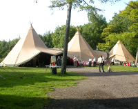 Group camps at Rocks East near Bath