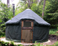 Yurt hire at Rocks East Woodland campsite
